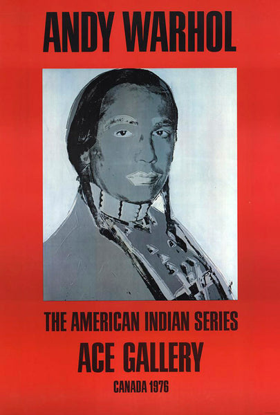 American Indian (red), 1977 by ANDY Warhol