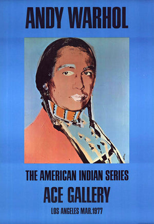 American Indian (blue), 1977 by ANDY Warhol
