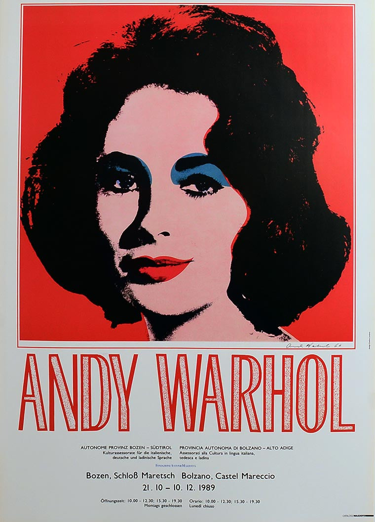 LIZ TAYLOR EXPO ITALY 1989 by ANDY Warhol