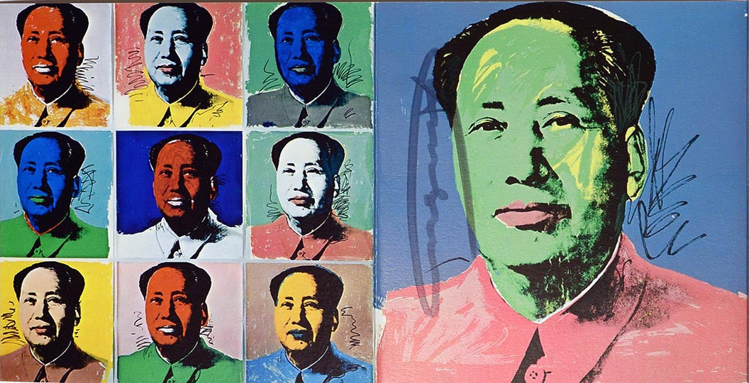 MAO, Invitation Card 1972, signed by Andy Warhol