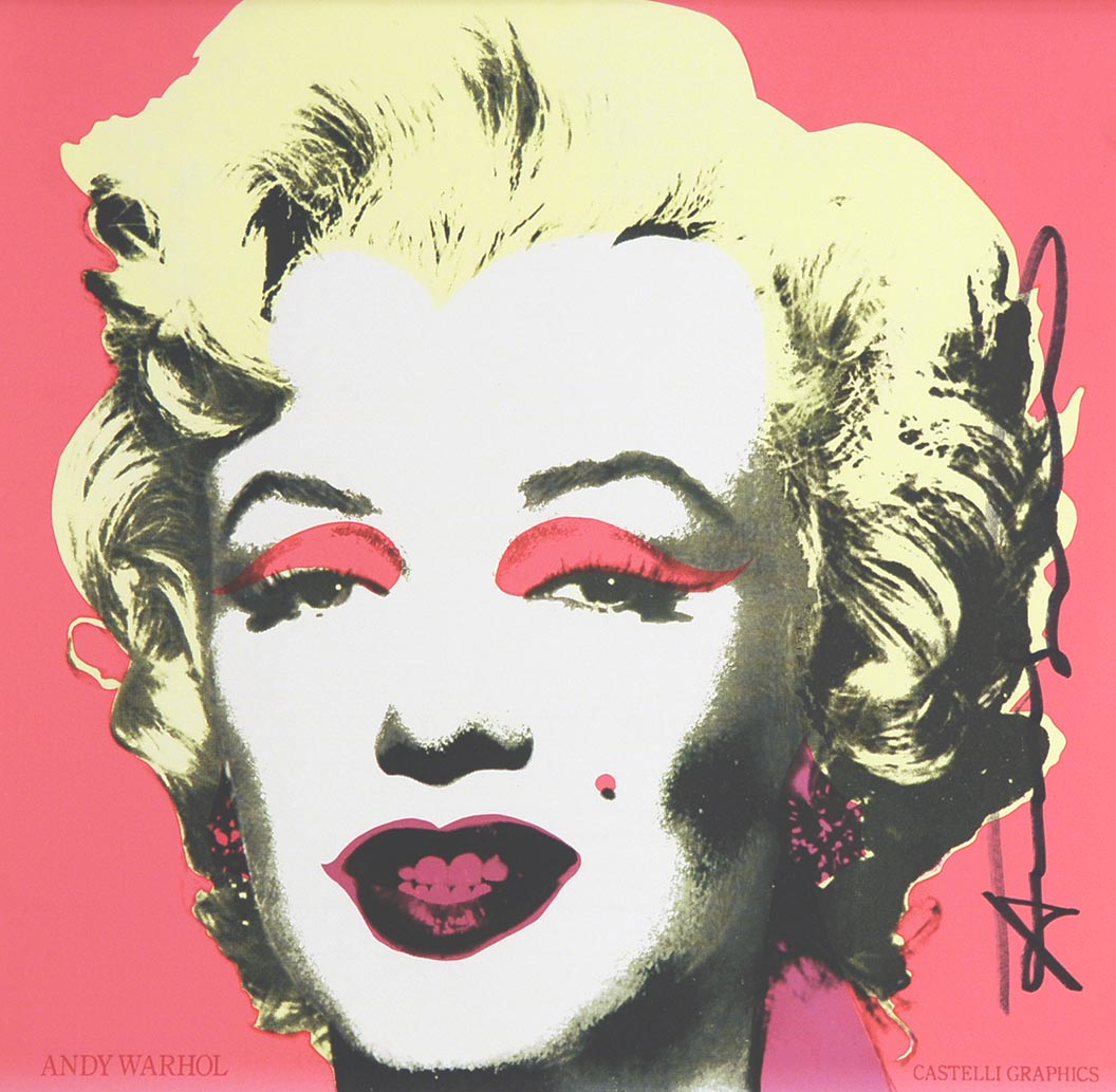 Marilyn (Announcement) 1981, signed by ANDY WARHOL