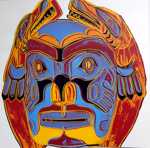 Northwest Coast Mask, from Cowboys and Indians, 1986 by ANDY Warhol