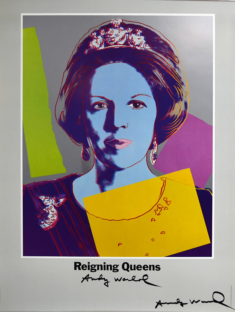 Queen Beatrix of the Netherlands, hand signed  by Andy Warhol