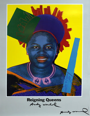 Queen Ntombi Twala Of Swaziland, hand signed by Andy Warhol