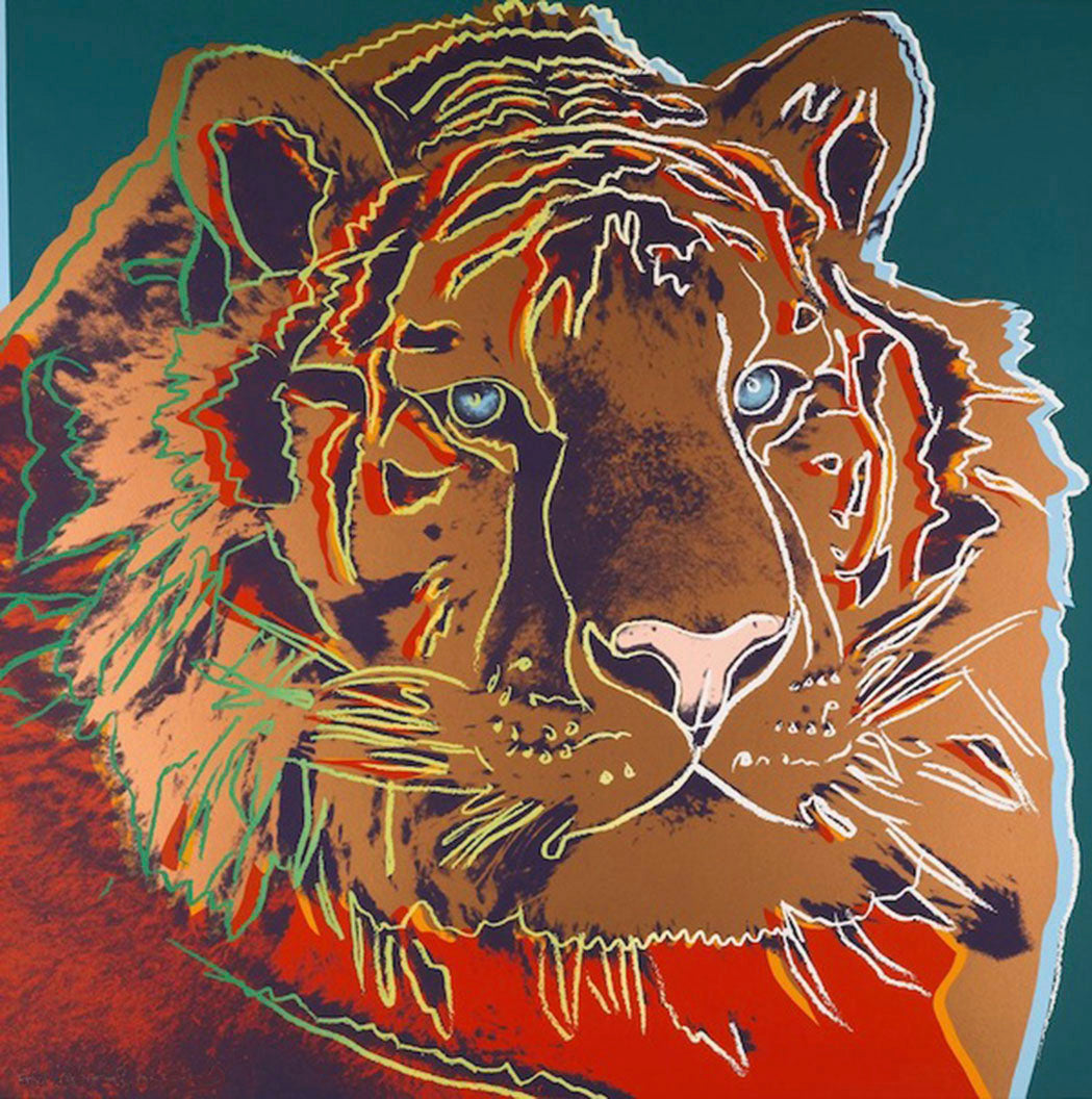 SIBERIAN TIGER from Endangered Species Portfolio, 1983 by ANDY Warhol