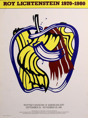 Apple Poster, (The Saint Louis Art) by Roy Lichtenstein