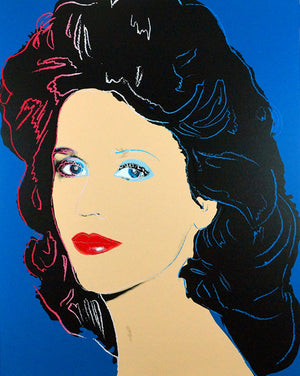 Jane Fonda,1982  by ANDY Warhol
