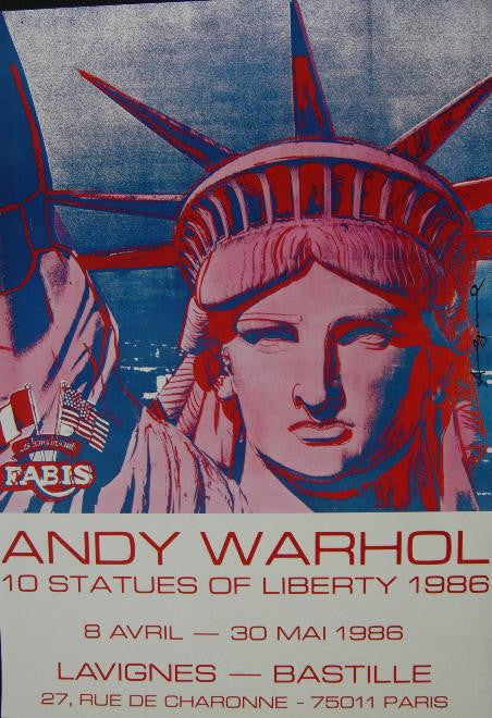 10 Statues of Liberty by Andy Warhol