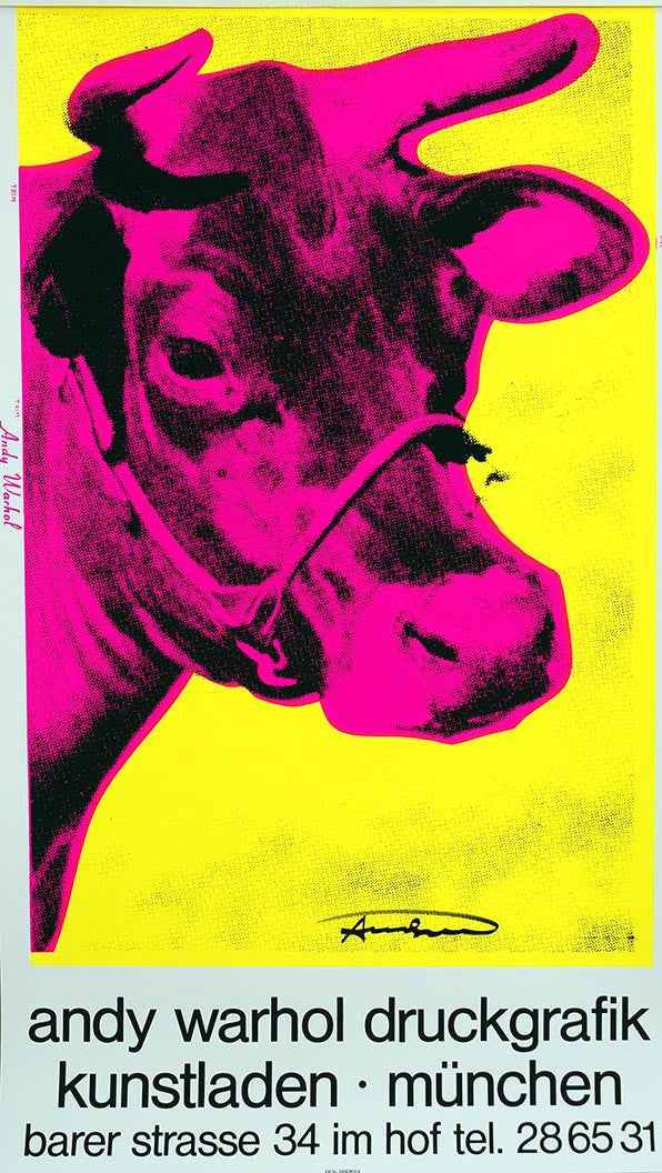 COW Kunstladen Muenchen by ANDY Warhol