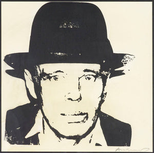 Joseph Beuys, self portrait 1980 by ANDY WARHOL
