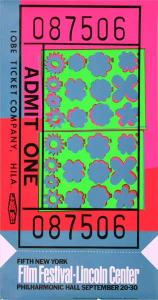 Lincoln Center Ticket 1967 by ANDY Warhol