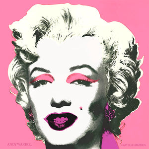 Marilyn (Announcement) 1981, 12x12 inches unsigned  by ANDY WARHOL
