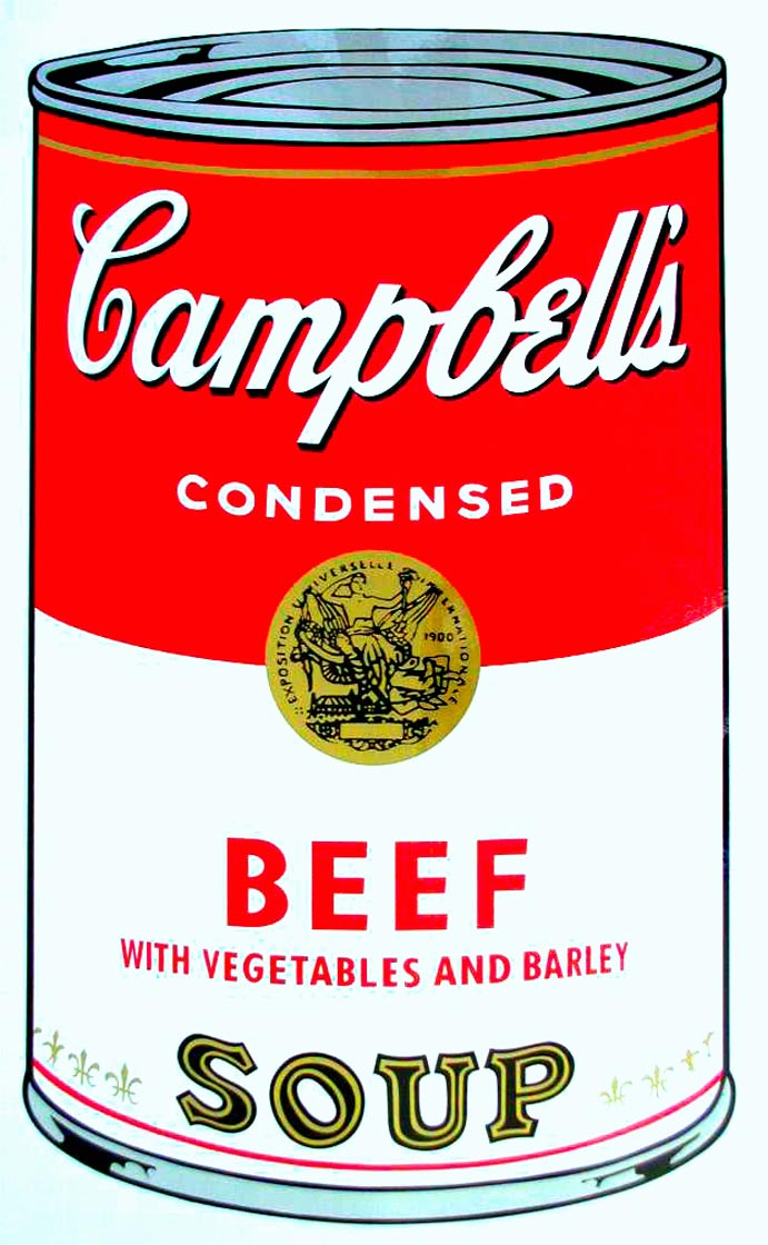 Campbell's Soup I, 1968,  Beef Soup,  by Andy Warhol
