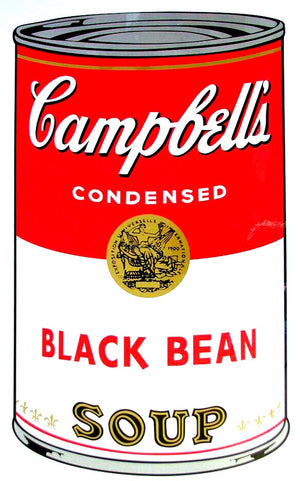 Campbell's Soup I, 1968,  Black Bean Soup,  by Andy Warhol