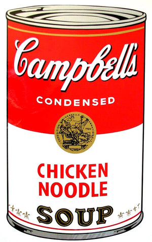 Campbell's Soup I, 1968,  Chicken Noodle Soup,  by Andy Warhol
