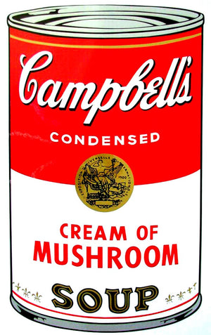 Campbell's Soup I, 1968,  Cream of Mushroom Soup,  by Andy Warhol
