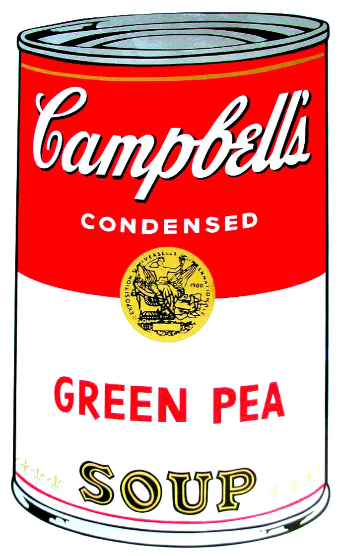 Campbell's Soup I, 1968,  Green Pea Soup  by Andy Warhol
