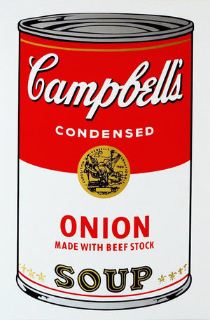 Campbell's Soup I, 1968,  Onion Soup,  by Andy Warhol