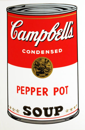 Campbell's Soup I, 1968,  Pepper Pot Soup,  by Andy Warhol