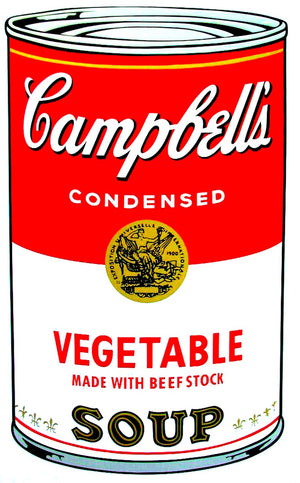 Campbell's Soup I, 1968,  Vegetable Soup  by Andy Warhol