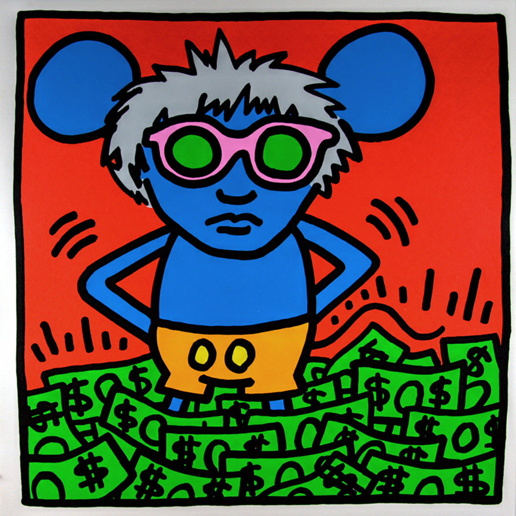ANDY MOUSE DOLLAR   by KEITH HARING
