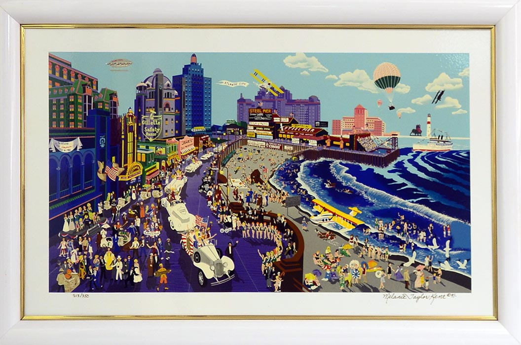 Boardwalk of Atlantic City 1991  by Melanie Taylor Kent