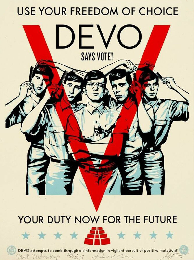 DEVO VOTE  by Frank Shepard Fairey (Obey)
