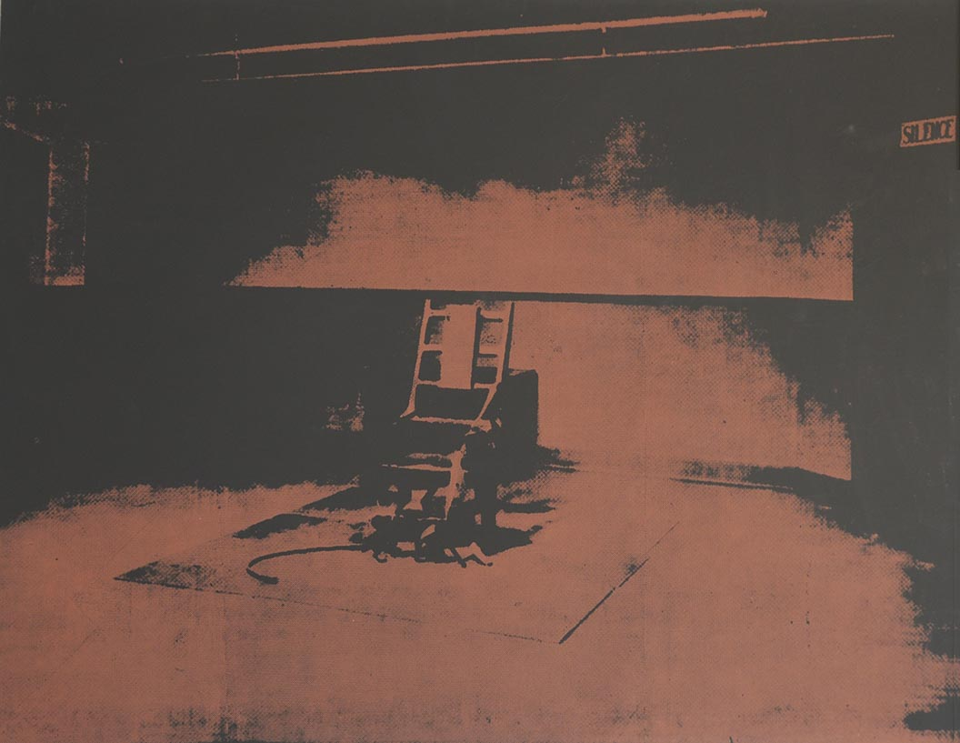 Electric Chair, brown, 1971 by ANDY WARHOL