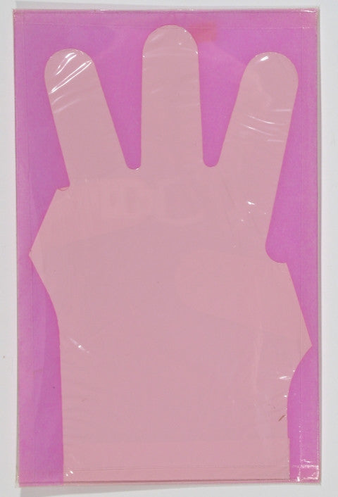 Enrico Baj Glove, latex glove in pink