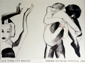 New York City Ballet 1988  by Francesco Clemente