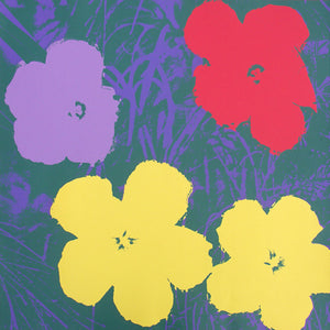 FLOWERS POSTER  FS II 65 by ANDY WARHOL