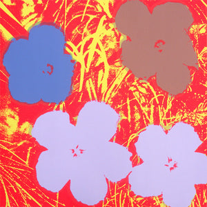 FLOWERS POSTER  FS II 69 by ANDY WARHOL