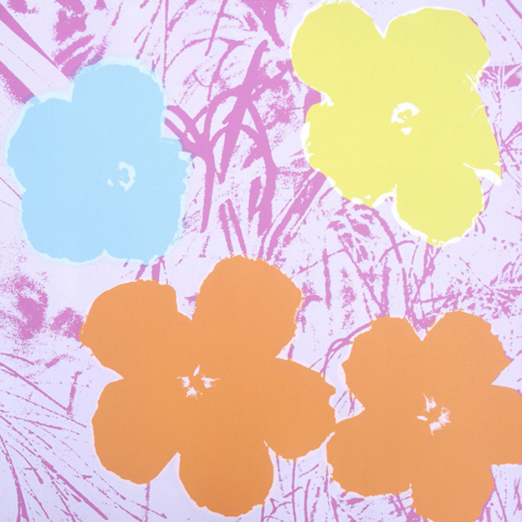 FLOWERS POSTER  FS II 70 by ANDY WARHOL