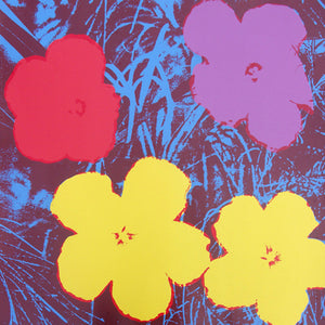 FLOWERS POSTER  FS II 71 by ANDY WARHOL