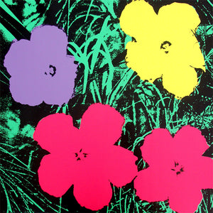 FLOWERS POSTER  FS II 73  by ANDY WARHOL