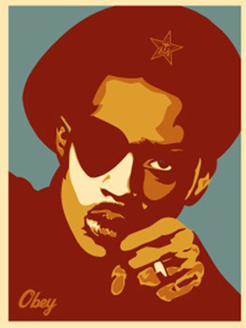 SLICK RICK RED  by Frank Shepard Fairey (Obey)