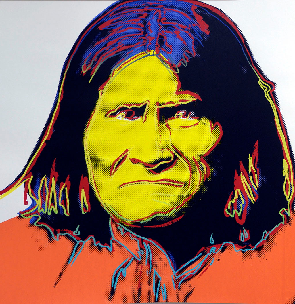 Geronimo, from Cowboys and Indians, 1986 by ANDY Warhol