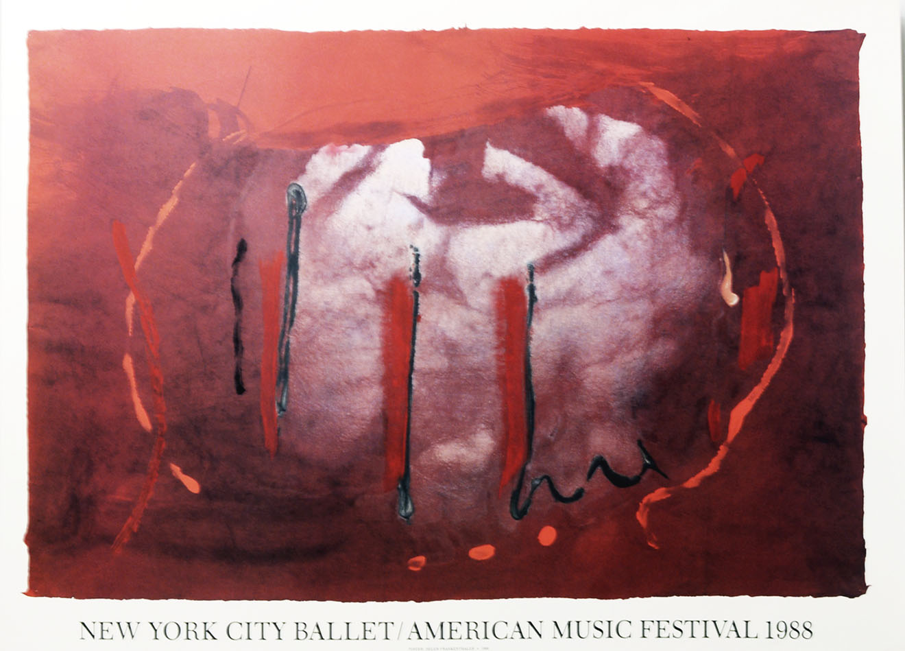 New York City Ballet 1988 by Helen Frankenthaler