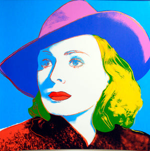 INGRID BERGMAN 1983 With Hat by ANDY Warhol