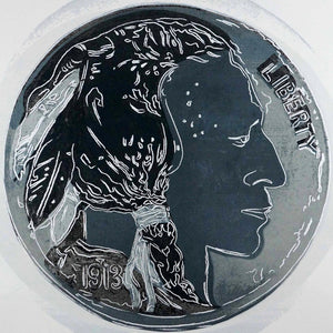 Indian Head Nickel, from Cowboys and Indians, 1986 by ANDY Warhol