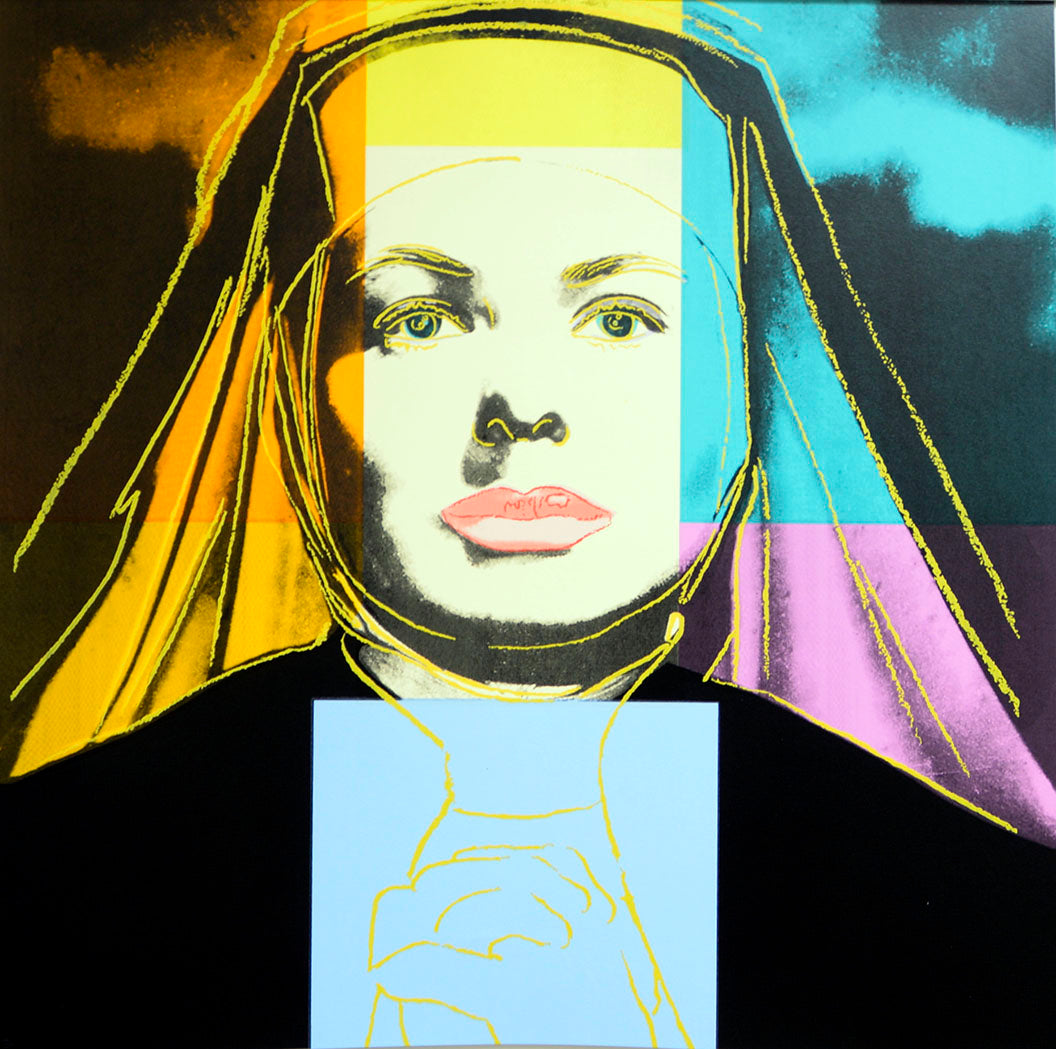 INGRID BERGMAN The Nun,  1983 by ANDY Warhol