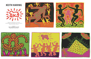 A Portfolio of 5 silkscreen (Invitation Cards 5)  by Keith Haring