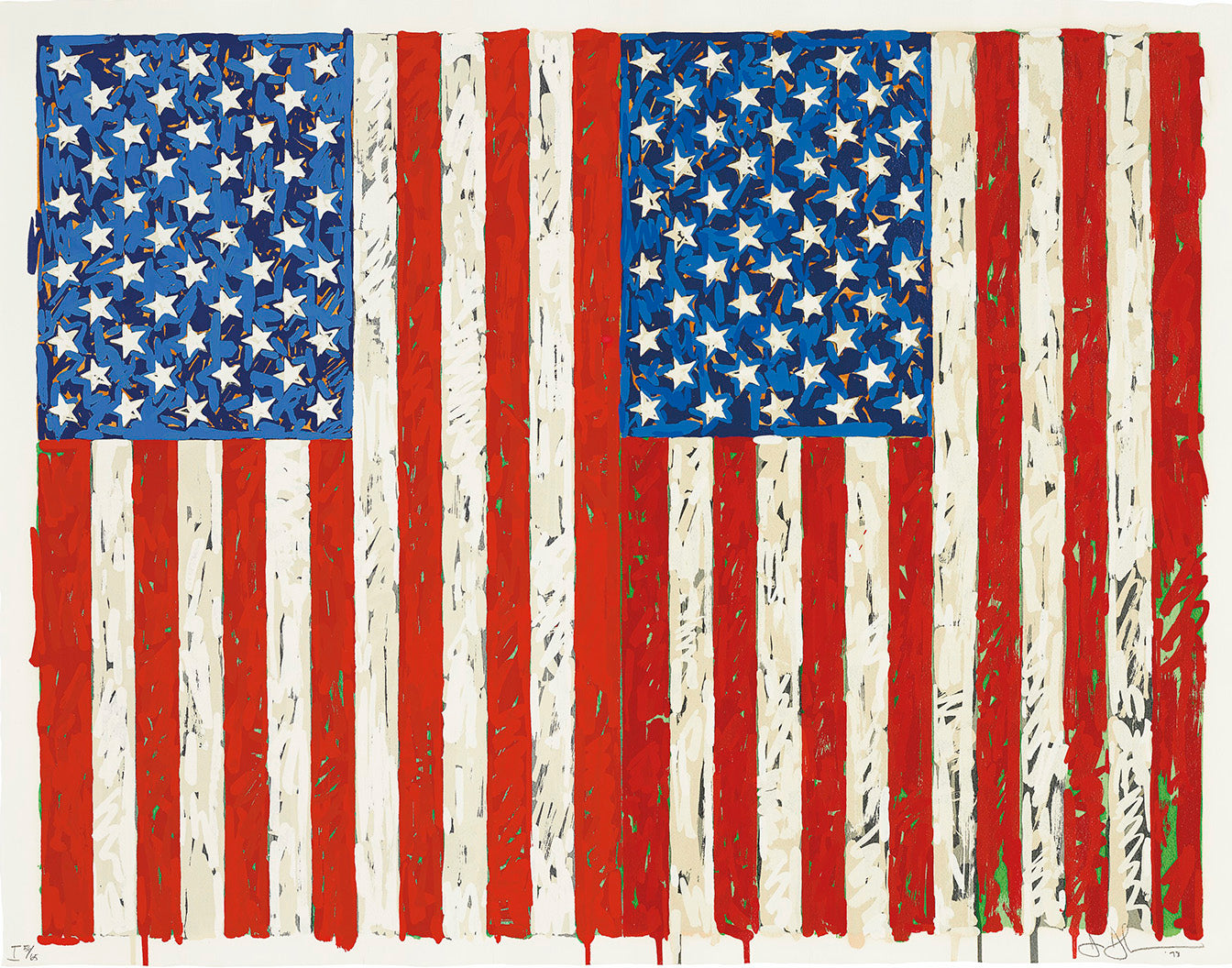 Flags 1, 1973 by JASPER JOHNS