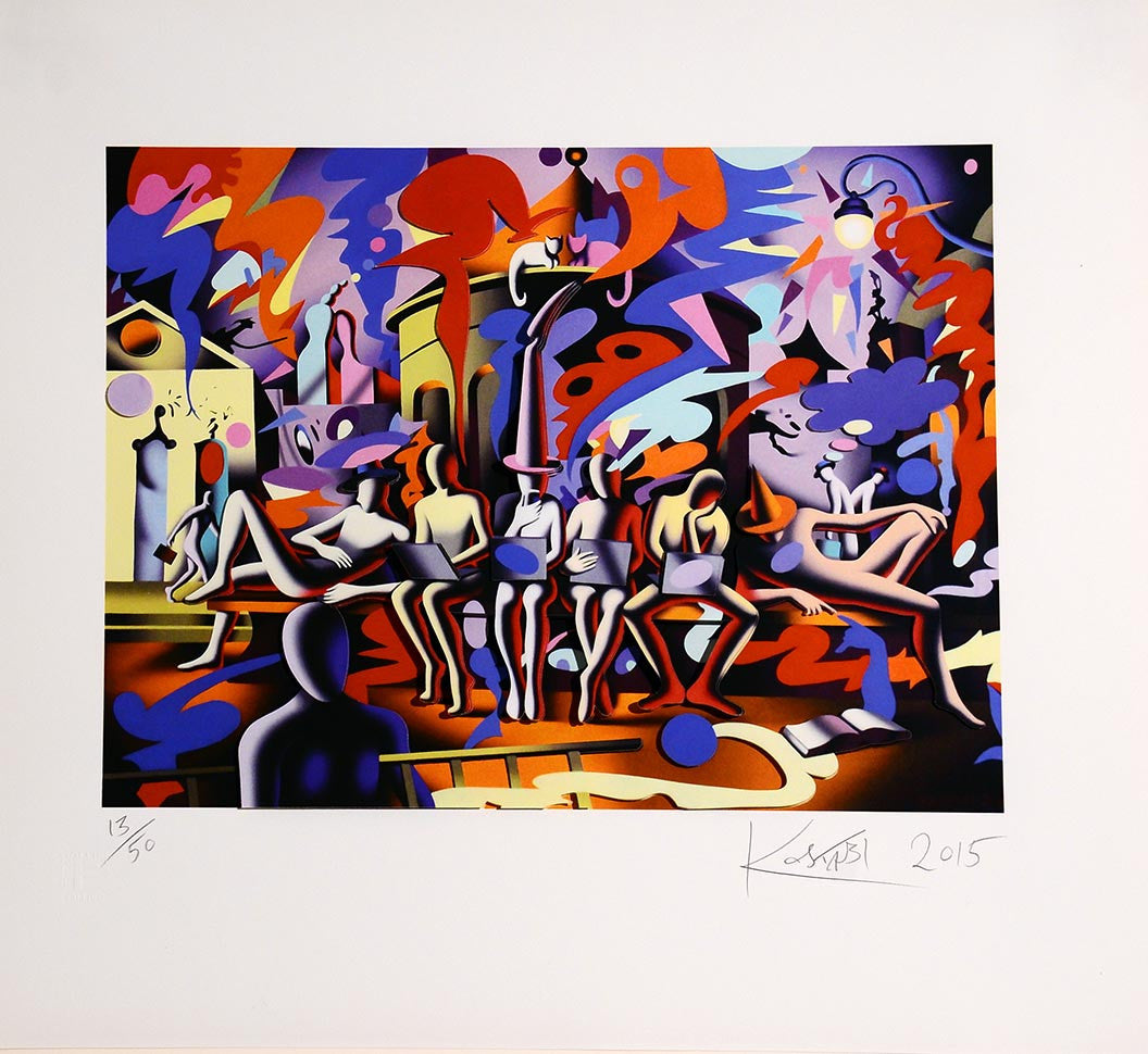 Midnight at noon  by Mark Kostabi