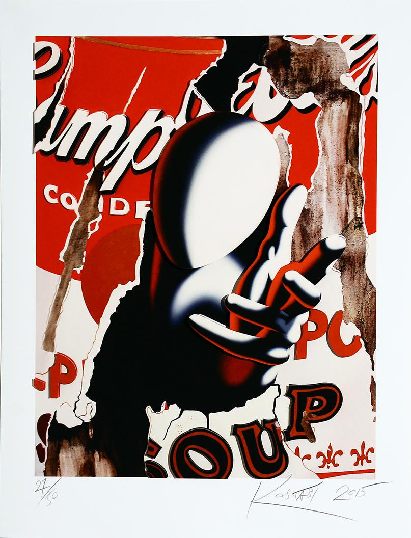 Soup's up by Mark Kostabi