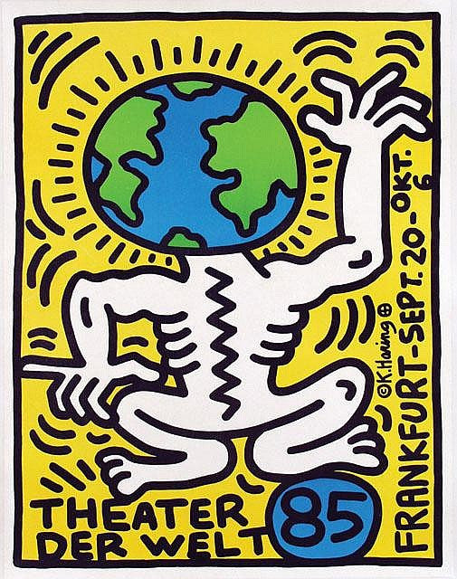 Theater der Welt Frankfurt  by Keith Haring