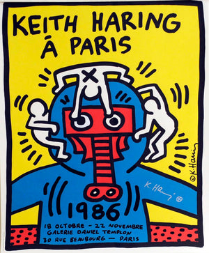 Paris Poster, signed  by  Keith Haring