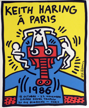 Paris POSTER by Keith Haring