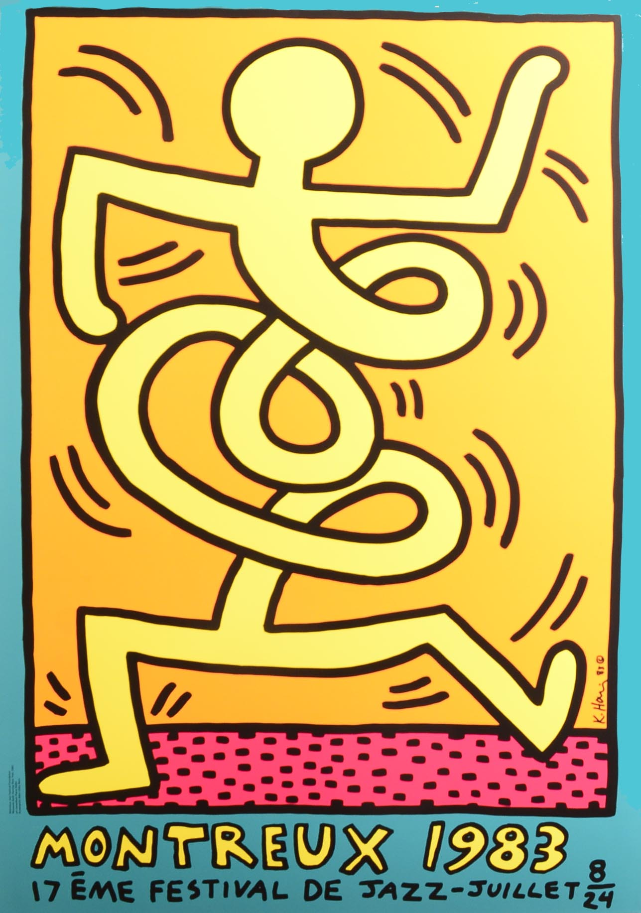 Montreux Jazz Festival 1983 POSTER 2 by Keith Haring