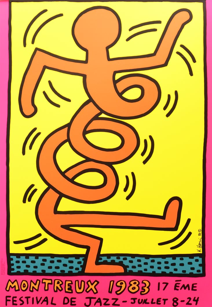 Montreux Jazz Festival 1983 POSTER 3 by Keith Haring